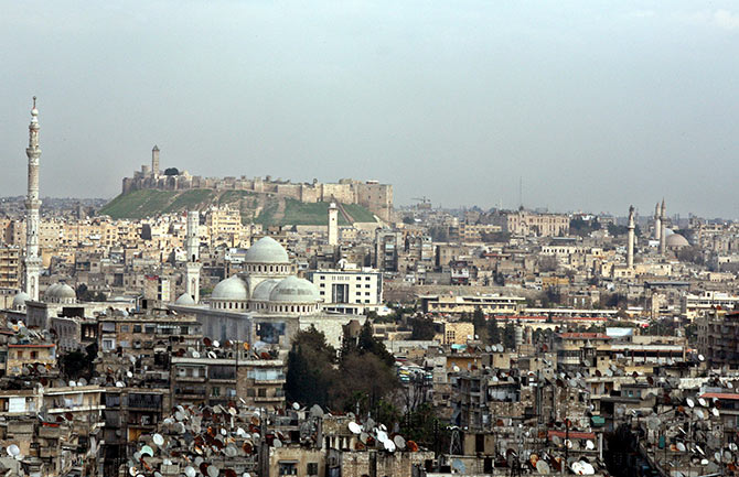 A general view shows Aleppo, the second-largest city in Syria.