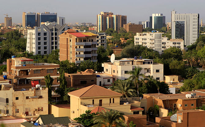 A general view of buildings in Khartoum.
