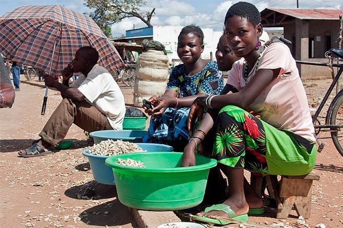 Malawi market.