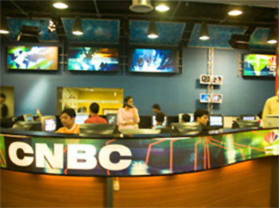 CNBC-TV18 news studio.