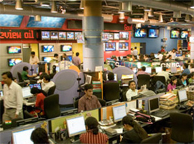 CNBC-TV18 newsroom, Mumbai