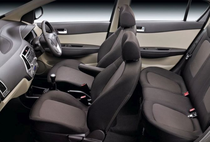 Hyundai i20 interior.