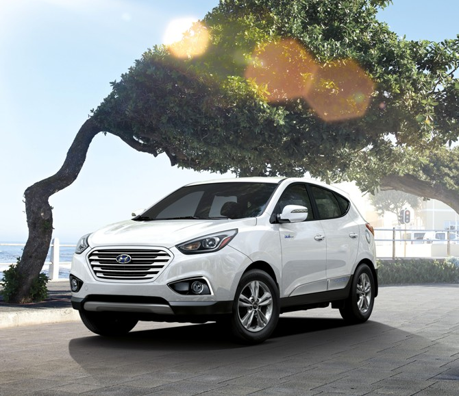 Hyundai's hydrogen fuel-cell car.