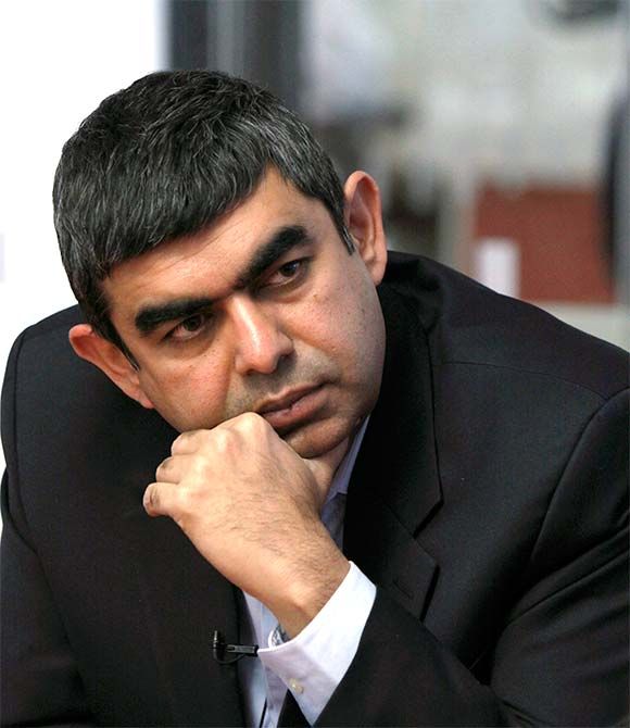 Image: Infosys CEO Vishal Sikka. Photograph: Reuters