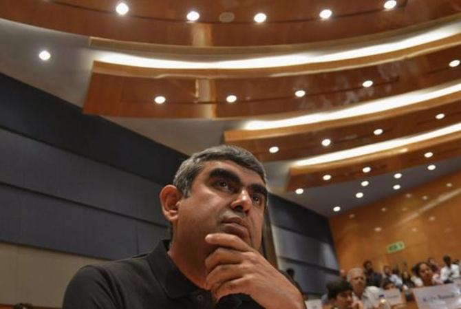 Vishal Sikka at Infosys.