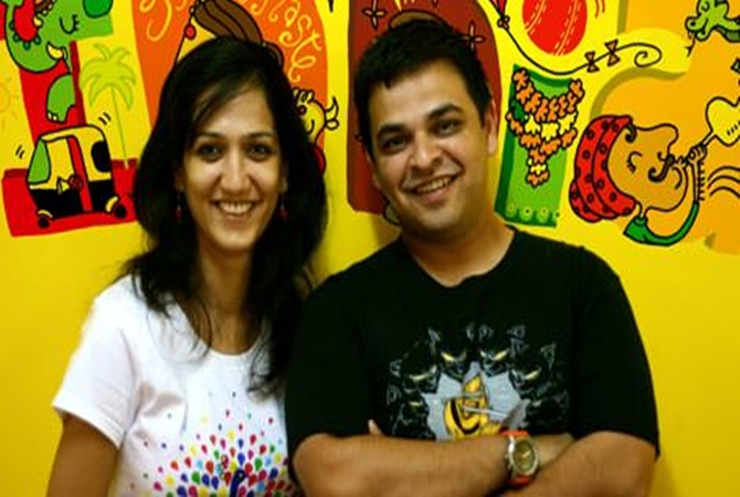 Founder and Chief Executive Vivek Prabhakar and co-founder Shubhra Chadda.