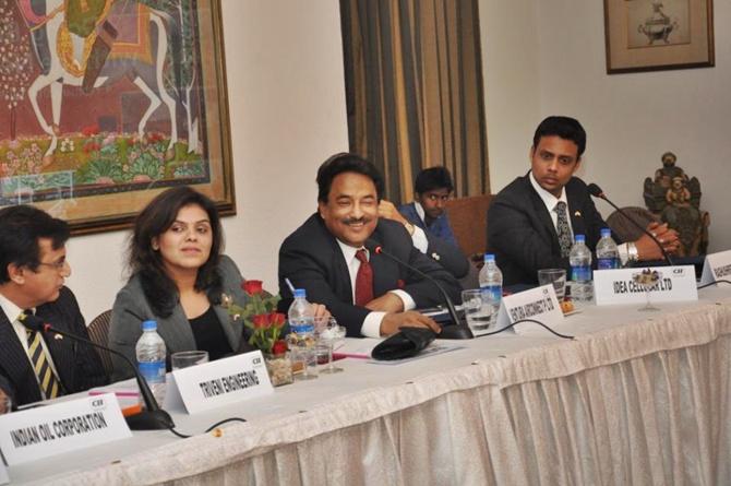 Pradeep Agarwal during a meeting with Dutch Ambassador