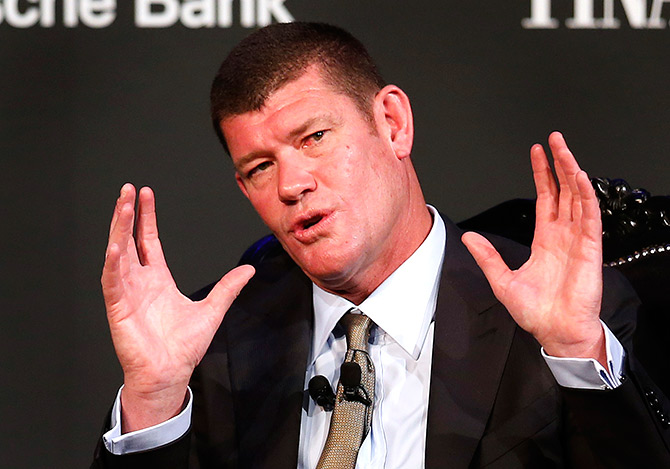 Australian Businessman and founder of Australia's Crown Ltd James Packer.