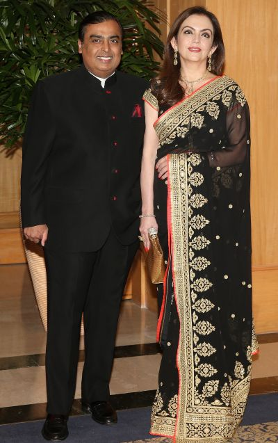 Nita Ambani and Mukesh Ambani at the British Asian Trust Reception.