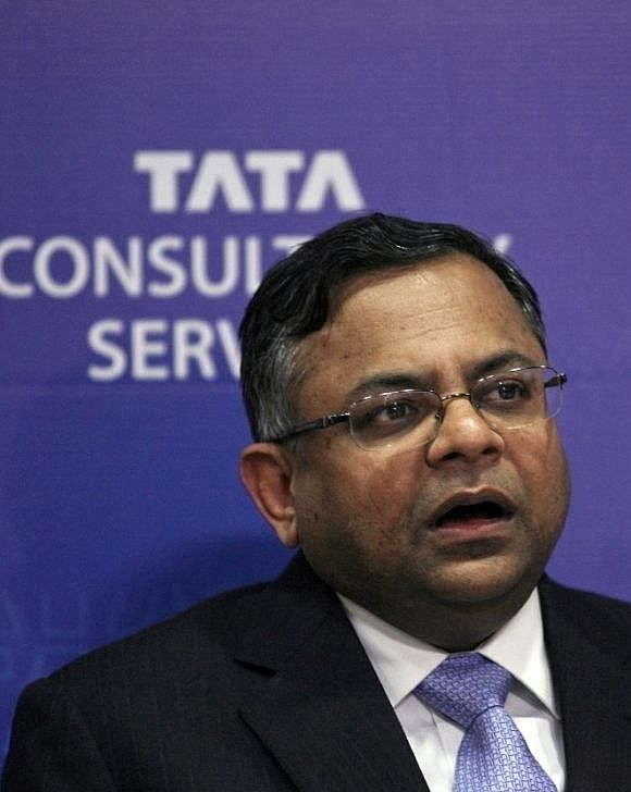 Tata Consultancy Services Chief Executive N. Chandra