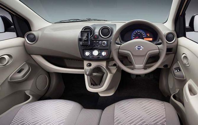 interior of Datsun Go+