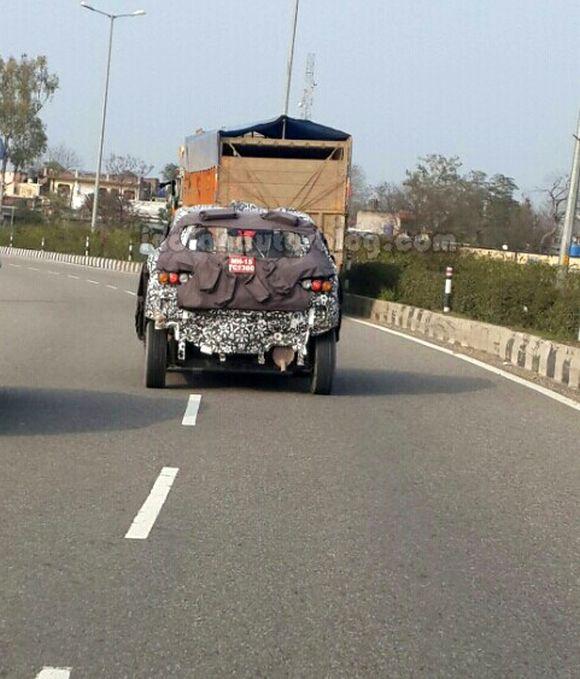 testing mule of Mahindra S101.
