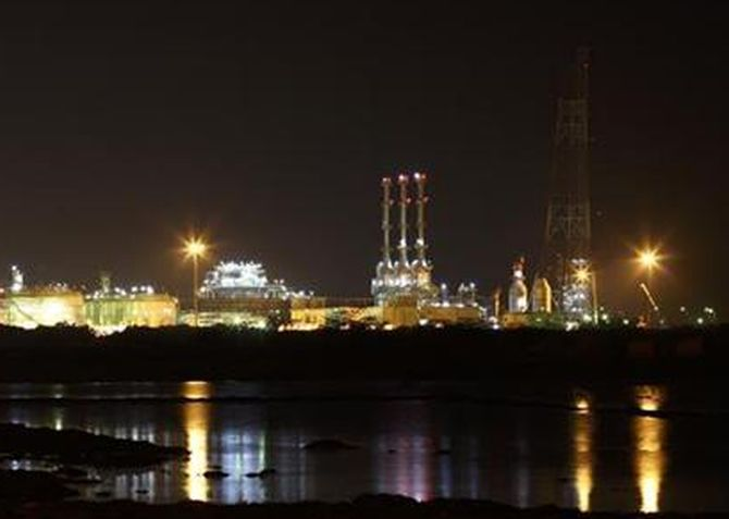 RIL's KG-D6 facility located in Andhra Pradesh