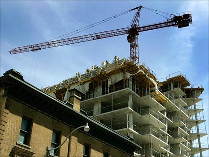 A view of an under-construction building