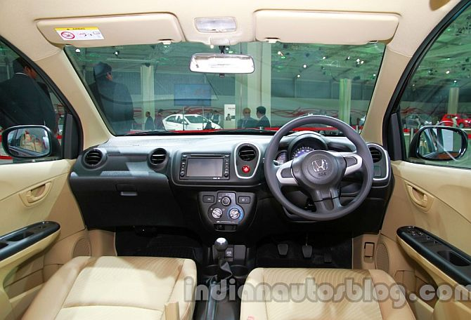 Interior of Honda Mobilio.