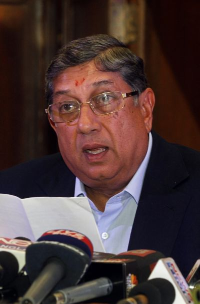 Vice-chairman and managing director of India Cement N Srinivasan.