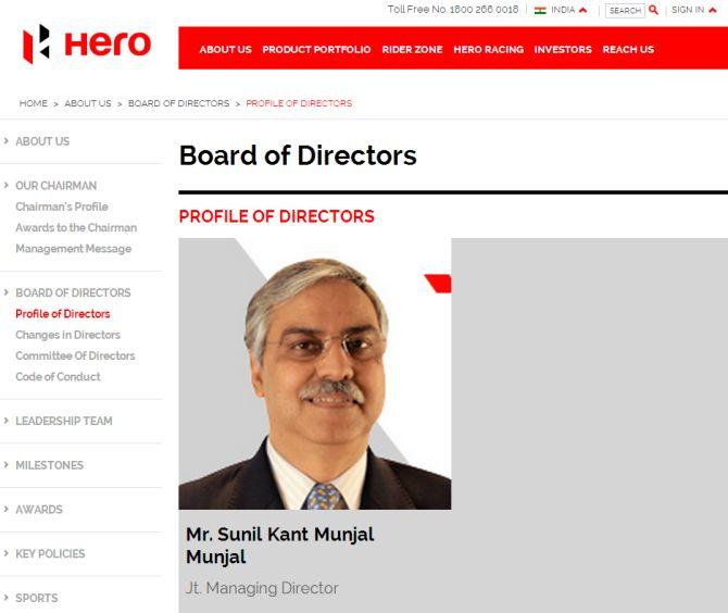 Sunil Kant Munjal.