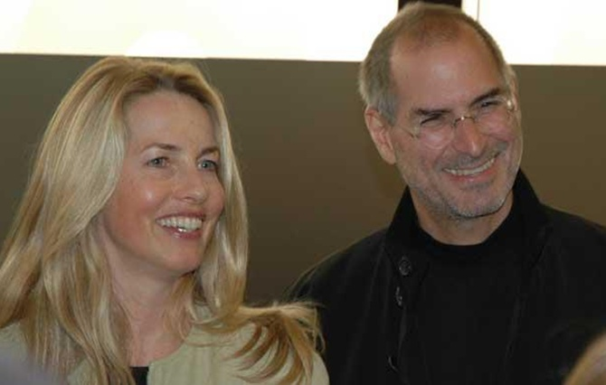 Laurene Powell Jobs with Steve Jobs