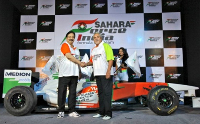 Sahara also co-owns the Sahara Force India Formula One auto racing team with liquor baron Vijay Mallya.