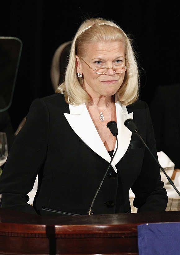 IBM CEO and Chairperson of the Board Virginia Rometty in New York.