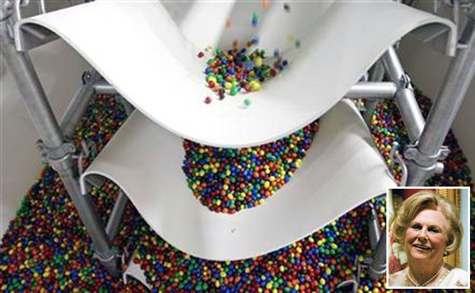 M&M's candies are seen at the production line of candy and chocolate maker Mars Chocolate France's plant in Haguenau, eastern France.