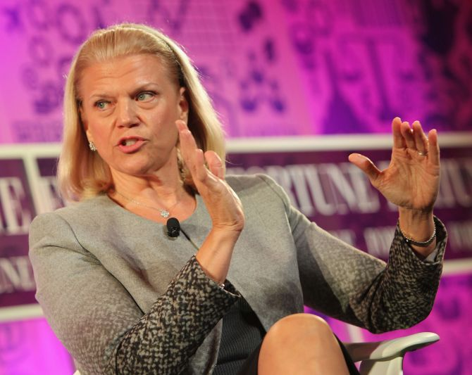 Chairwoman and CEO of IBM Ginni Rometty speaks onstage at the FORTUNE Most Powerful Women Summit.