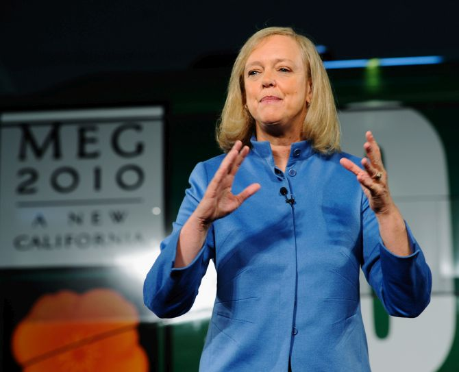 Republican gubernatorial candidate and former eBay CEO Meg Whitman speaks at Earth Friendly Products after touring the echo-friendly cleaning products company.