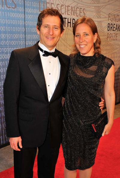 L-R) Dennis Troper and Susan Wojcicki attend the 2014 Breakthrough Prize Inaugural Ceremony.