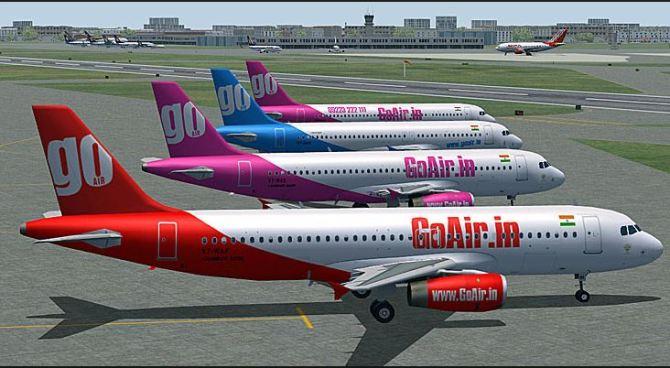 GoAir aircraft.
