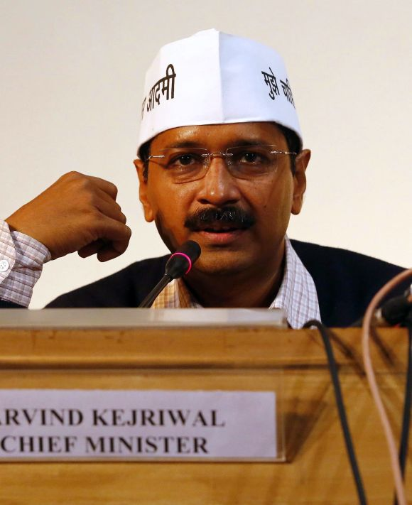 Aam Aadmi Party chief Arvind Kejriwal.