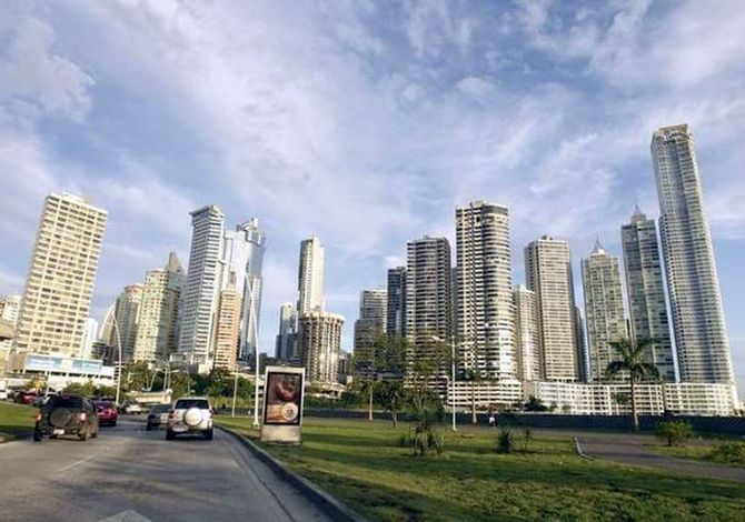 Skyline of Panama City.