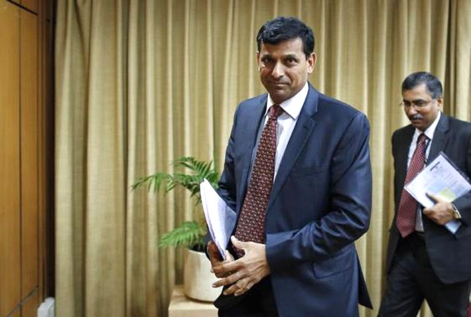 RBI governor Raghuram Rajan on his way to announce the monetary policy. Interest rate has gradually been increasing since 2010 to curb inflation.