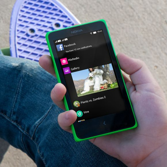 Nokia X+ Android smartphone.