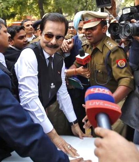 Subrata Roy outside Supreme Court.