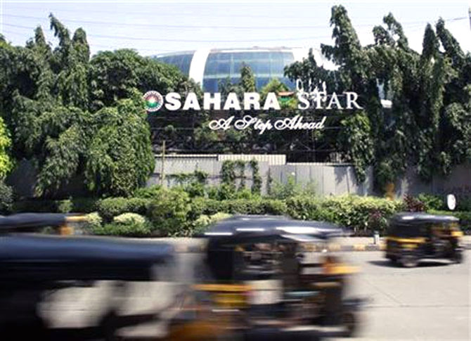 The Sahara Star hotel near Mumbai airport.