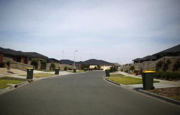 A suburban street is seen in Geelong.