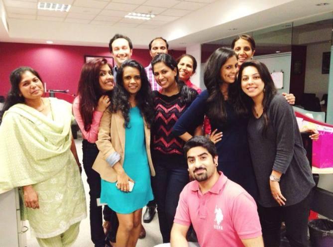 TeamGlobosport celebrating Secret Santa! #festivespirit #Christmas - with Sameera Baig, Aditya Hitkari, Amrita Mendonza, Mahendra Jadhav, Anita Vijay, Tejal K Pabari, Sharan Karnani, Aditi Kanakia, Kavita Bhupathi Chadda and Neha Bijlaney at Globosport India.