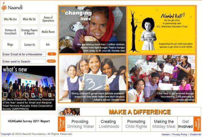 Naandi.org website.