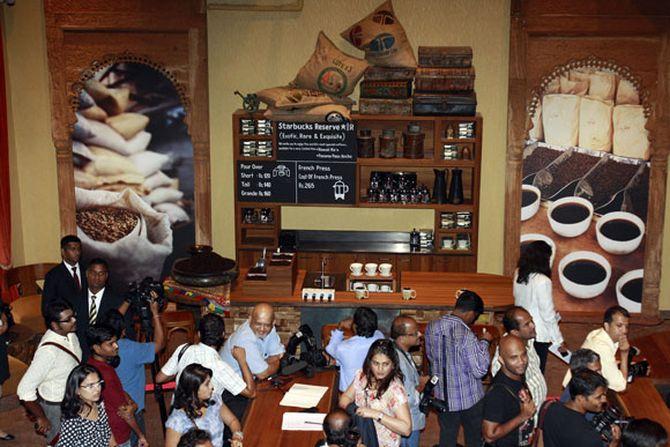 Tata Global and Starbuck's first retail outlet in Mumbai