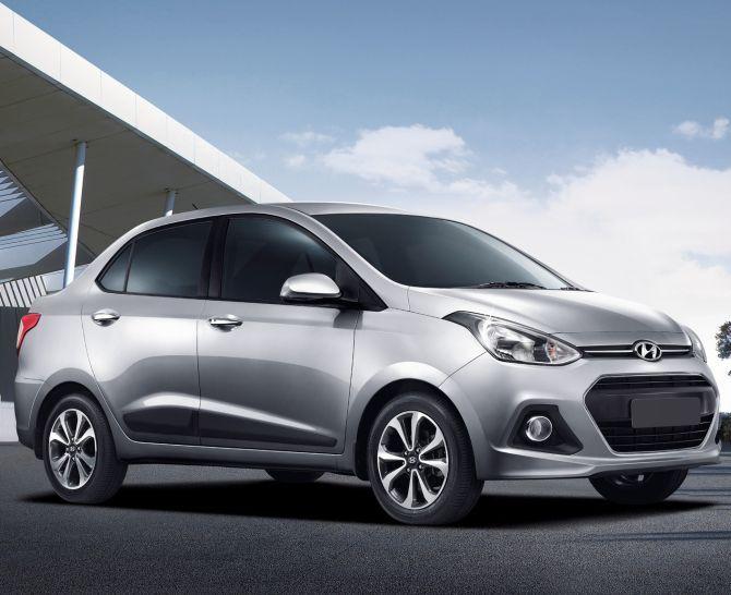 Hyundai Xcent.