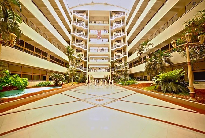 Atrium of Bhavani building at Technopark