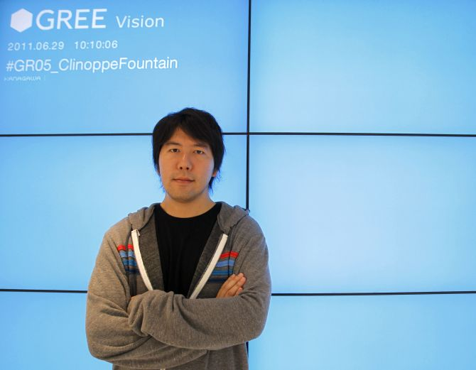 Japan's mobile social gaming firm Gree Chief Executive Officer Yoshikazu Tanaka.
