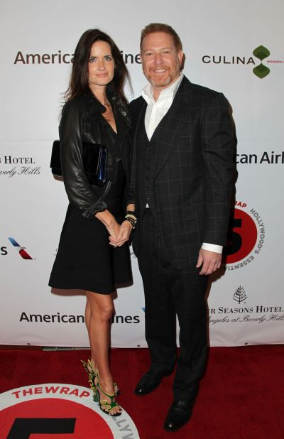 Relativity Media CEO Ryan Kavanaugh (R) and Valerie Michaels attends TheWrap's 5th Annual Oscar Party at Culina Restaurant at the Four Seasons Los Angeles.