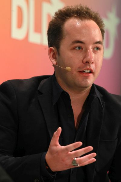 Drew Houston of Dropbox speaks during the Digital Life Design conference.