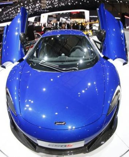 McLaren 650S at the Geneva Auto Show.