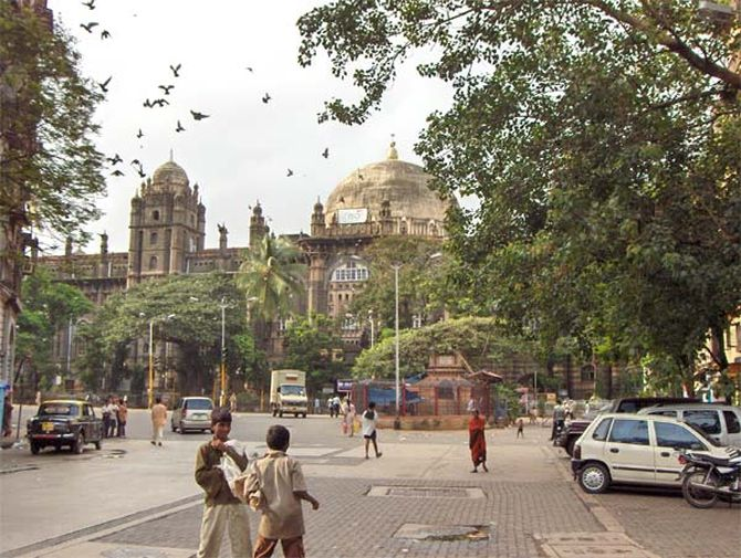 The iconic general post office in Mumbai