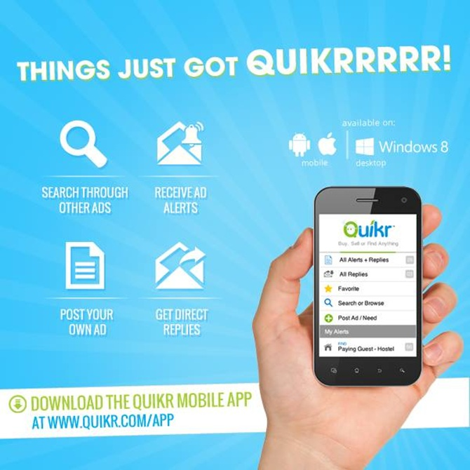 Quikr sees rapid growth.