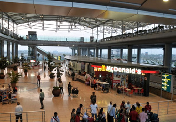 Hyderabad International airport.
