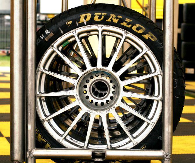Dunlop tyre.