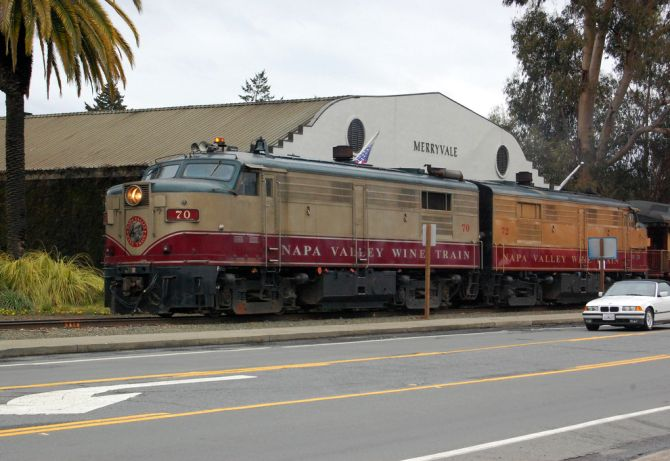 Napa Valley Wine Train Diesel locomotive.